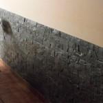 Cocina con piedra decorativa